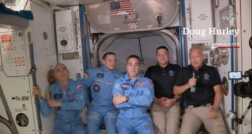 美國9年來首度發射載人太空船:「天龍乘員號」太空人成功進入國際太空站