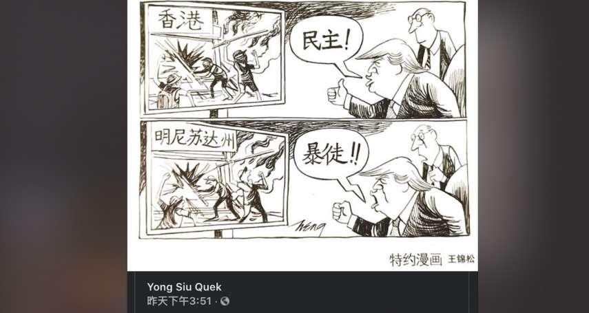 新加坡第一夫人暗諷川普雙標?何晶臉書轉貼政治諷刺漫畫,再度引發爭議