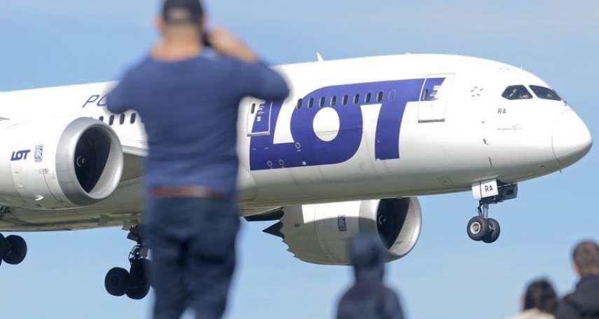 台波關係歷史新頁》波蘭航空包機載118台灣人回台 雙邊史上首度載客直飛