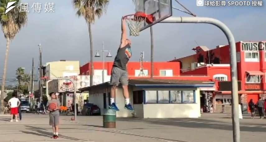 努力比天賦更重要!身高170公分也能完成灌籃夢!專業彈跳訓練籃球場上直衝天際【影音】
