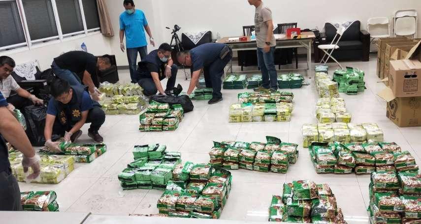 「這種運毒一輩子沒看過!」運毒船搶灘前翻覆 遭查獲761公斤毒品