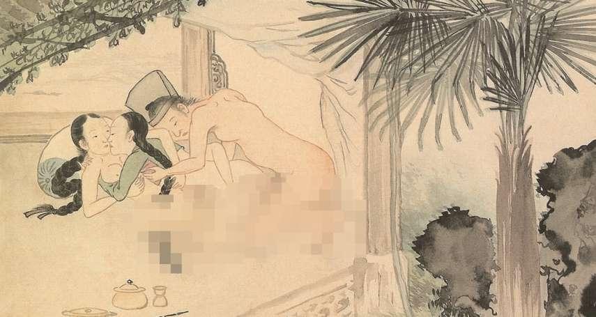 古朝鮮春宮圖「高難度體位」曝光!一男兩女庭院大玩「多人運動」無限春光下暗藏悲慘真相