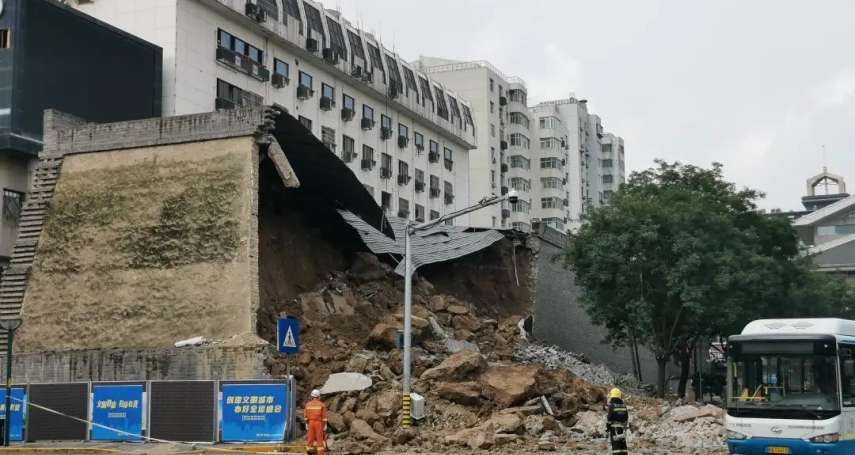 逾600年明秦王府一面牆倒塌 中國官方稱只是保護牆