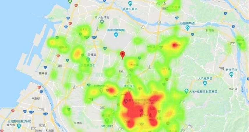 台中購物節「消費熱度分析圖」出爐 消費集中這幾區