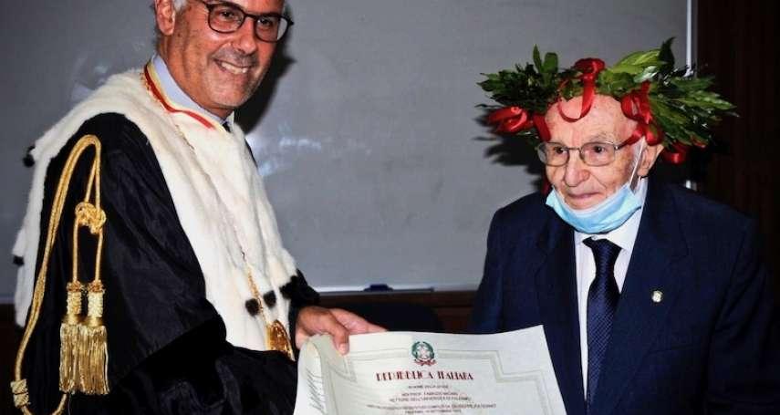 擊敗新冠疫情、打破義大利全國紀錄!97歲大學畢業生周世沛:我破百之前還要拿碩士