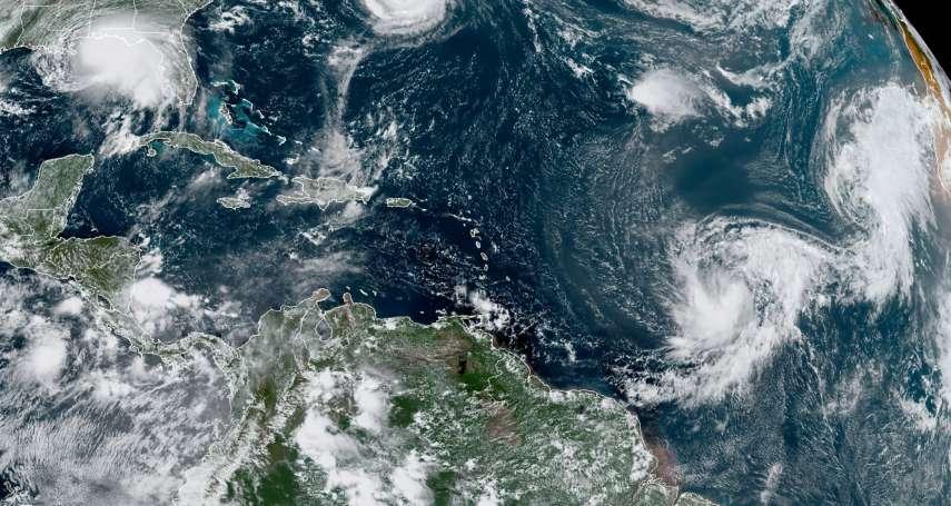 史上第二次!大西洋海面5氣旋共舞 颶風莎莉逼近墨西哥灣沿岸