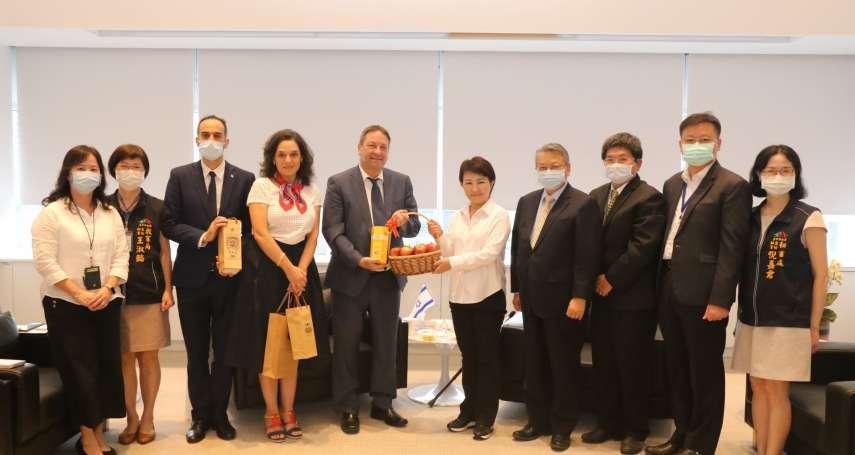 以色列駐台代表柯思畢拜會盧秀燕 盼參與在地事務深化交流