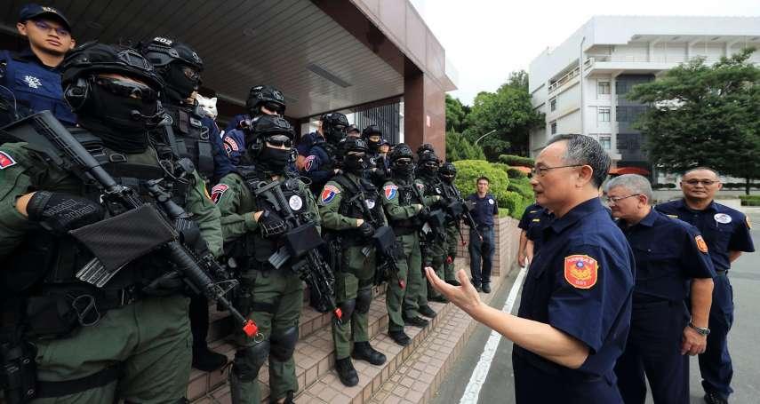陳家欽替國慶反恐戰技展示部隊打氣 神秘動物面具造型曝光