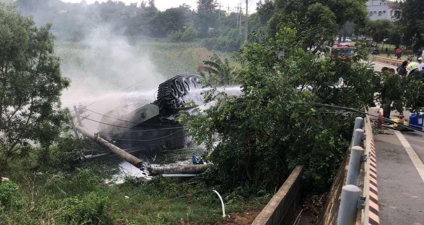 國慶前夕金防部聯合反登陸操演戰車翻覆1死1傷
