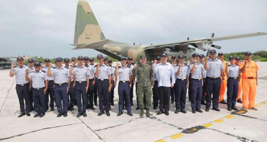 國防部副總長李廷盛搭C-130去東沙 凸顯我方能掌握空域