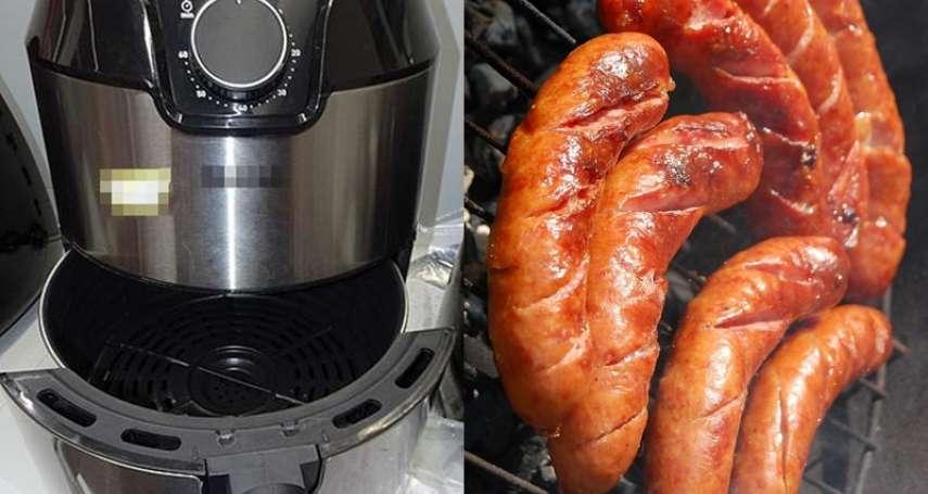 用氣炸鍋比較健康?專家實測煎香腸,油煙比油鍋高出13倍,這情況下暴增1525倍