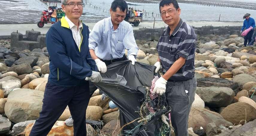 疫情趨緩台糖復辦淨灘 動員百人清理彰化王功海岸線