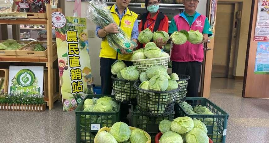 行銷在地農產 大安農會收購高麗菜大安蔥送弱勢