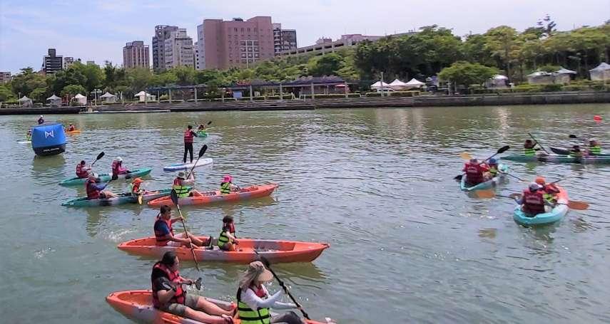 陳其邁宣示將愛河「還河於民」 提供民眾親水遊憩空間