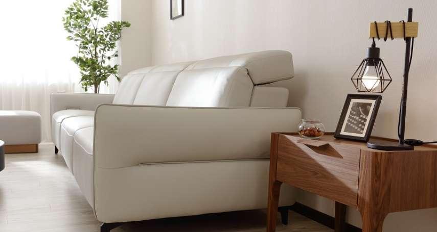 輕奢新家開箱必備!客製尺寸純白電動沙發成客廳亮點