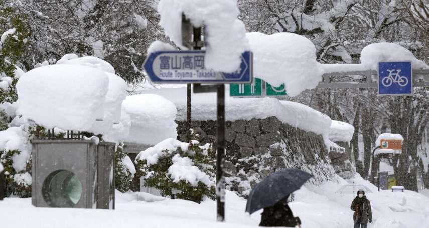 北陸、東北地方大雪釀災,日本傳11死、逾三百人輕重傷