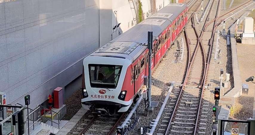 中捷綠線列車首批改善 軸心進行檢驗符合標準