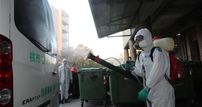 桃園醫院群聚感染擴大 陸軍33化兵群出動大消毒