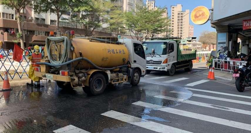 中市加強防治空污 有效利用回收水抑制揚塵