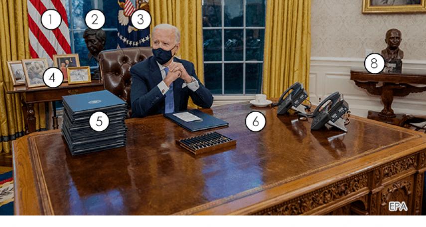 美國總統的辦公室,所有裝飾都有特殊意義!拜登的「橢圓型辦公室」長什麼樣子?