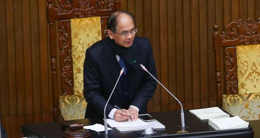 立院公務資通訊設備禁用中國貨 游錫堃下令3月底前再查一次