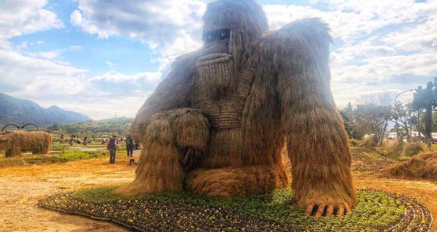 花蓮富里第二屆稻草藝術季登場!20座巨型稻草動物引驚嘆
