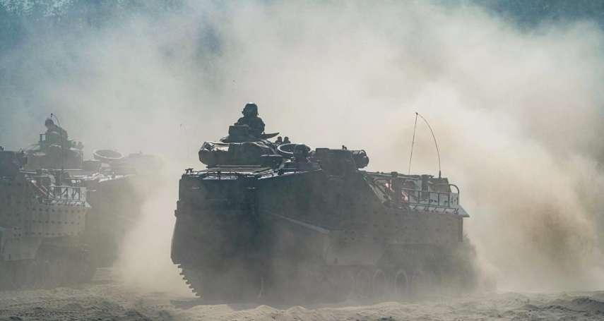 陸戰隊反擊作戰核心!AAV-7A1兩棲突擊車「馳騁畫面」震撼曝光