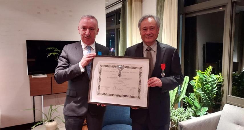 表彰在電影的傑出成就 法國頒授李安最高殊榮「榮譽軍團勳章」