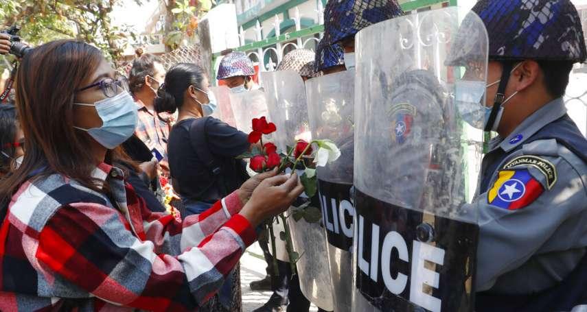 「我們希望發動大罷工,推翻軍事獨裁!」軍方政變後首個周末,緬甸湧現「番紅花革命」以來最大抗爭