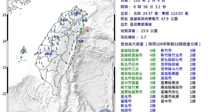 地震警報凌晨靜悄悄!凌晨連2起規模5地震國家警報卻沒響,鄭明典出面解釋了