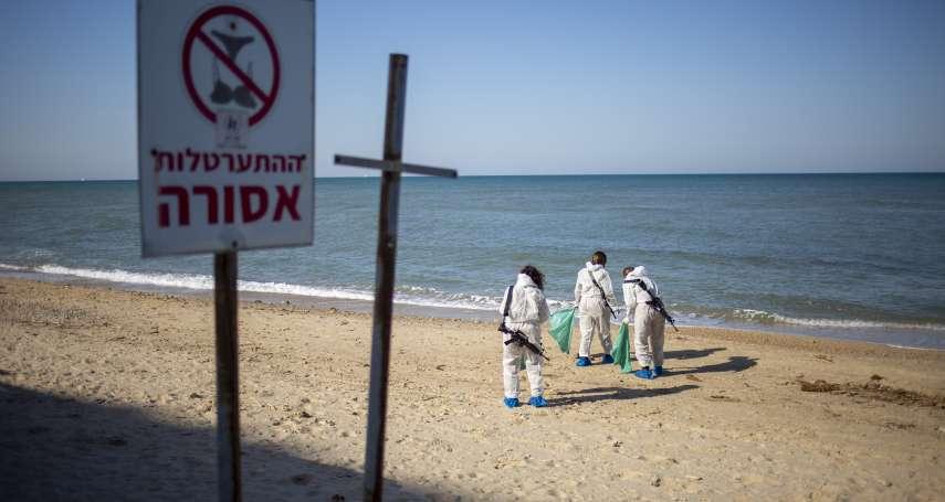 「海龜寶寶和魚類身上都覆蓋著黑色汙泥」 千噸焦油汙染以色列海岸,引發近年最嚴重環境災害