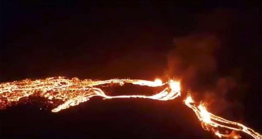 冰島近期4萬次地震 首都附近火山噴發染紅夜空