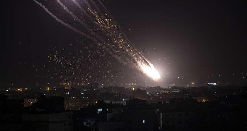 以巴衝突升溫!數百枚火箭劃破夜空,煙霧籠罩加薩「像一場毀滅性的戰爭」