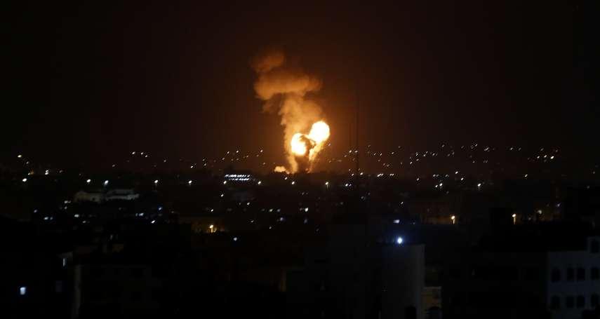 遭哈瑪斯發射火箭攻擊 以色列空襲加薩報復、至少20人喪生