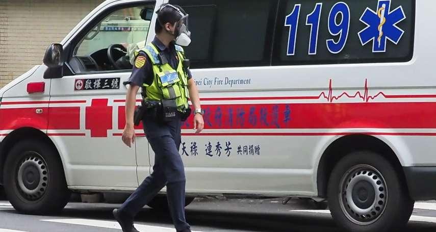 黃偉哲、蔡易餘在綠中常會建議 蔡英文同意警察消防人員優先施打疫苗