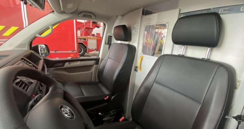 中市首創防疫救護車分艙分流 加強救護防疫