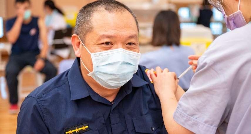 疫苗到貨就施打 台中防疫警消已開始施打