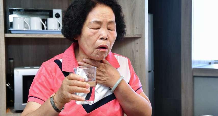 吸入性肺炎平均死亡率近半 老齡吞嚥困難勿輕視