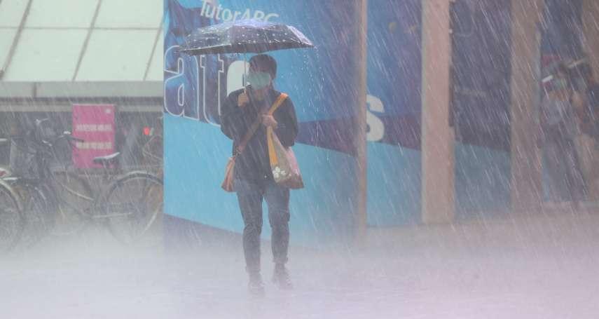北北基大雨 北市多處積水、水利署發布這幾區一級警戒
