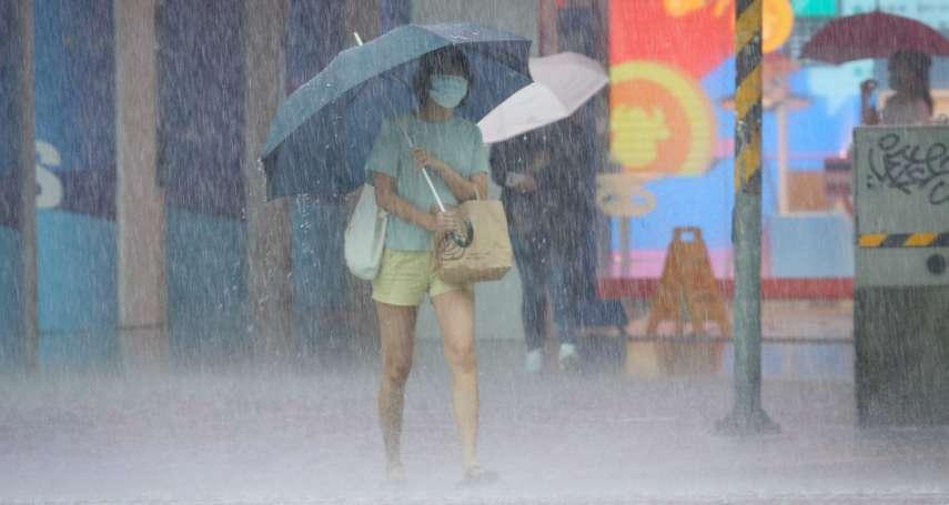 豪雨釀災》台大測站整點時雨量破紀錄 台鐵這路段積水不通