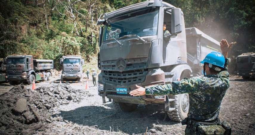 陸軍工兵「寓戰訓於民生」協助水庫清淤 多功能傾卸車亮相