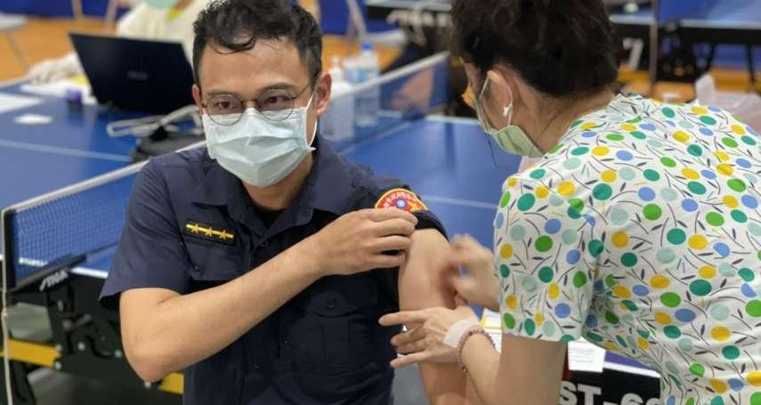高市警官搶打疫苗?防疫中心澄清:警察屬第二類防疫人員外勤警員均接種完