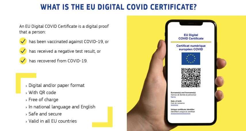 歐洲摸索解封中!「歐盟數位新冠證明」7月1日上路,掃QR Code過成員國海關免篩檢、免隔離