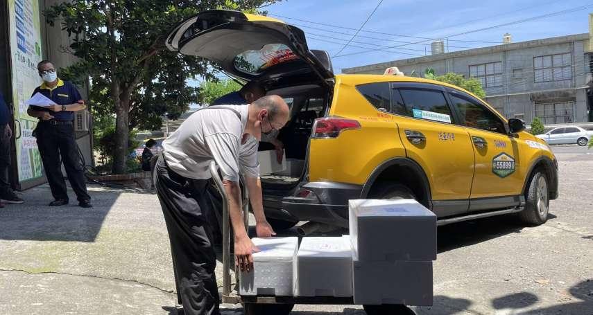 小黃貨送到府 中市計程車疫情期間協助載貨送餐