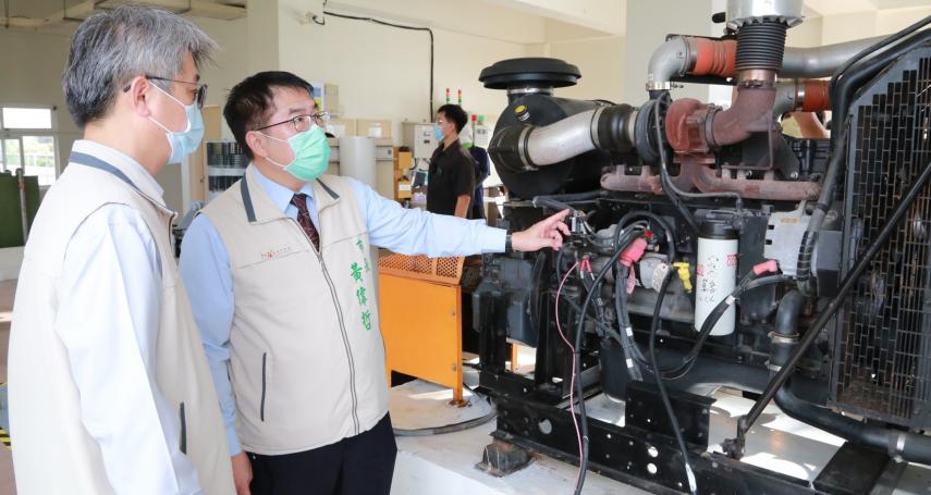 進入颱風季節  臺南市抽水站整備工作部署完成   市長黃偉哲視察勉勵同仁防汛更不忘防疫