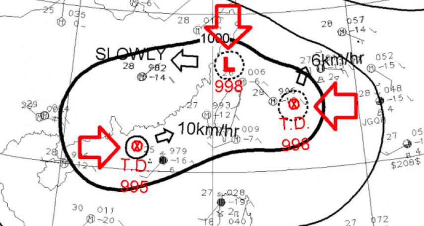 「盧碧」正式轉颱!雙颱恐接力生成 鄭明典驚:3低壓環繞台灣