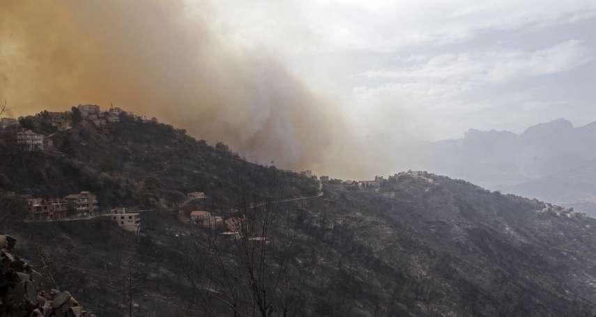 「看起來像世界末日!」北非阿爾及利亞爆發數十起野火 42人喪生