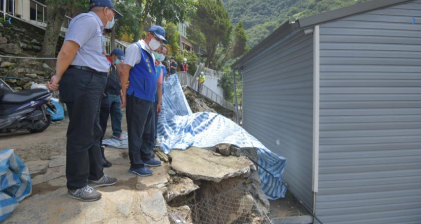 盧碧颱風投縣山區居民房舍受損 林明溱前往勘災