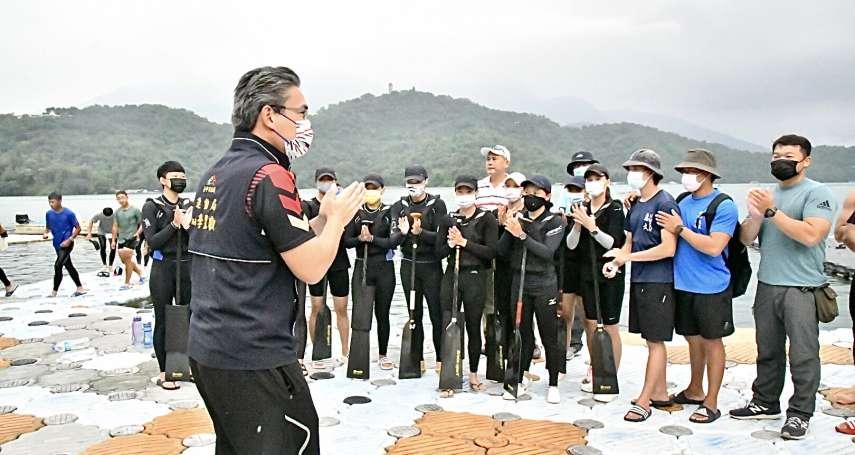 中市划船、輕艇隊日月潭移訓 運動局長期勉摘金奪冠