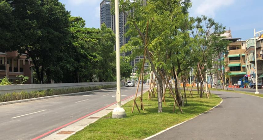 園道翻轉城市景觀 雄中圍牆綠美化完成